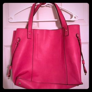 Pink JustFab tote bag
